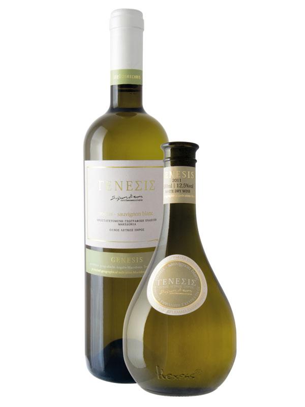 Genesis, White Dry, Roditis (40%), Sauvignon Blanc (60%)